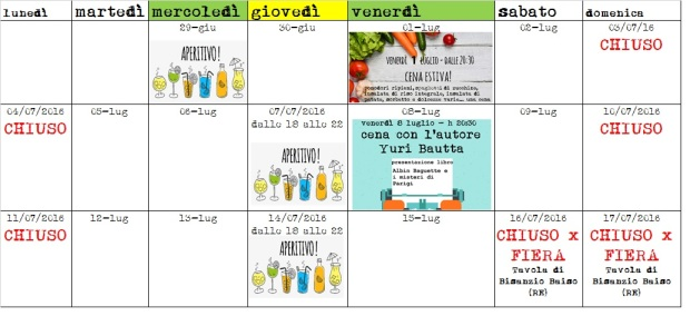 calendario eventi 2